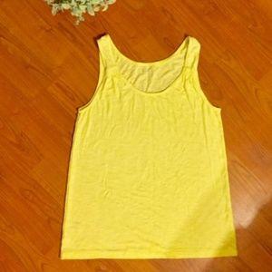 Ann Taylor LOFT Yellow Sleeveless Tank Top Medium